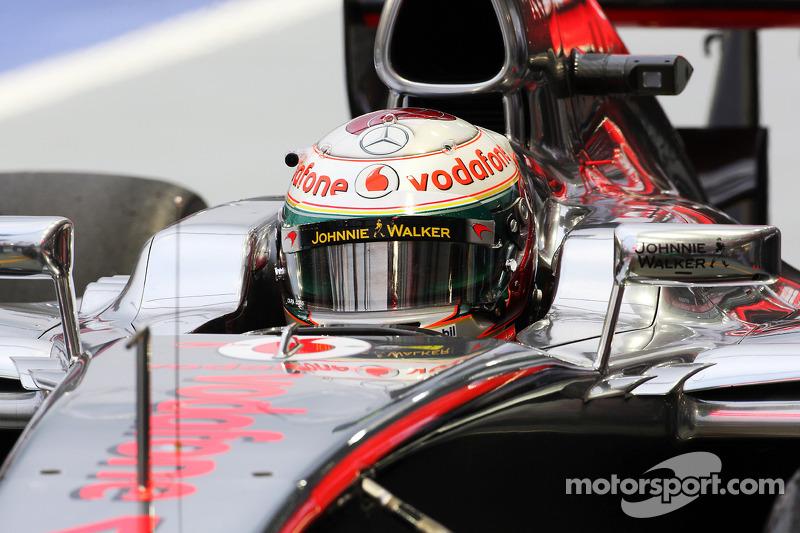 Lewis Hamilton, McLaren with new helmet livery