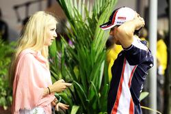 Bruno Senna, Williams with his girlfriend Charlotte Evans