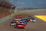 Start: #24 Ferrari of Beverly Hills 458TP: Carlos Kauffmann leads the field