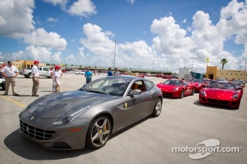 Customer lapping Ferrari cars head to track