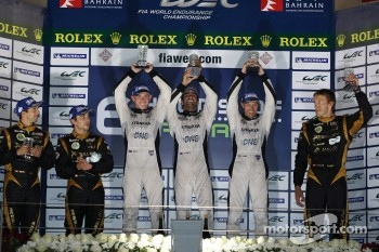 Privateer LMP1 podium: winners Nick Leventis, Danny Watts, Jonny Kane