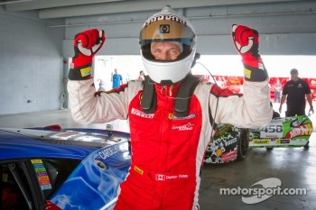 Race winner #31 Ferrari of Ontario 458CS: Damon Ockey celebrates