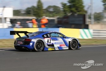 #42 Saintloc Racing Audi R8 LMS: Patrice Madeleine; Pierre Hirschi