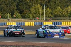 #2 Pro GT by Almeras Porsche 911 GT3 R: Henry Hassid; Anthony Beltoise and #3 Pro GT by Almeras Porsche 911 GT3 R: Romain Monti; Laurent Cazenave