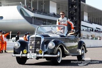 Paul di Resta, Sahara Force India F1 on the drivers parade