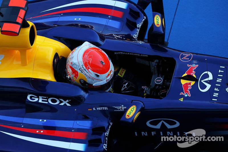 Race winner Sebastian Vettel, Red Bull Racing in parc ferme