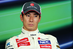 Kamui Kobayashi, Sauber in the FIA Press Conference