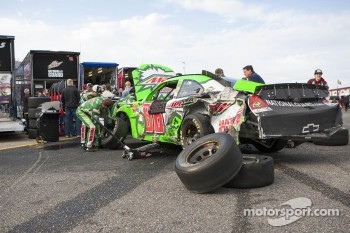 Wrecked car of Dale Earnhardt Jr., Hendrick Motorsports Chevrolet