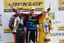 Round 25 podium 1st Jason Plato, 2nd Dave Newsham, 3rd Aron Smith