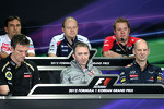 James Allison, Lotus F1 Team, David Greenwood, Marussia F1 Team, Paddy Lowe, McLaren Mercedes, Adrian Newey, Williams and Pierre Wache, Sauber F1 Team