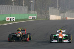 Romain Grosjean, Lotus F1 Team and Nico Hulkenberg, Sahara Force India Formula One Team