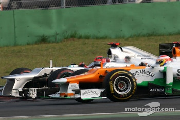 Michael Schumacher, Mercedes GP and Paul di Resta, Sahara Force India Formula One Team