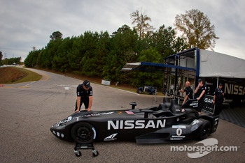 #0 Nissan DeltaWing Project 56 Nissan heads to technical inspection