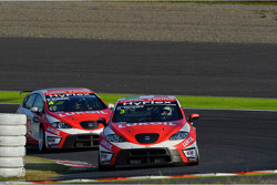 Gabriele Tarquini, SEAT Leon WTCC, Lukoil Racing Team and Alexey Dudukalo, SEAT Leon WTCC, Lukoil Racing Team