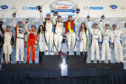 PC podium: class winners Alex Popow, Ryan Dalziel, Mark Wilkins, second place Bruno Junqueira, Tomy Drissi, Ricardo Vera, third place Ken Dobson, Rudy Junco, Elton Julian