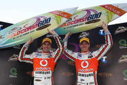 Winners Jamie Whincup and Sébastien Bourdais, Team Vodafone