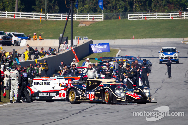 #12 Rebellion Racing Lola B12/60 Toyota: Andrea Belicchi, Neel Jani, Nicolas Prost leads the field to pace lap