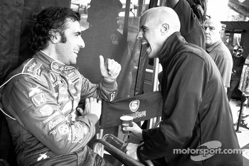 Dario Franchitti and Marino Franchitti share a laugh