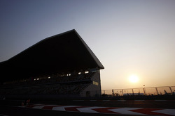 Sun sets over the circuit