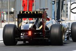 Kimi Raikkonen, Lotus F1 rear wing and rear diffuser detail