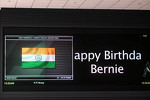Media Center TV screen wishes Bernie Ecclestone, CEO Formula One Group, a Happy Birthday