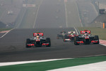 Lewis Hamilton, McLaren Mercedes and Jenson Button, McLaren Mercedes