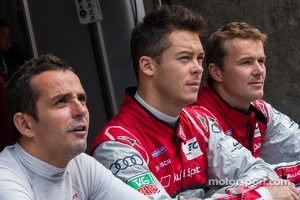 Audi drivers from left to right: Benoit Trluyer, Andre Lotterer, Marcel Fssler
