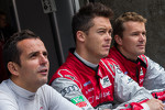 Audi drivers from left to right: Benoit Tréluyer, Andre Lotterer, Marcel Fässler
