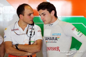 Gianpiero Lambiase, Sahara Force India F1 Engineer with Jules Bianchi, Sahara Force India F1 Team Third Driver