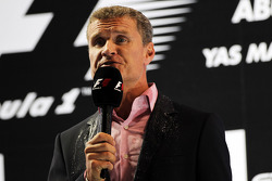 David Coulthard, Red Bull Racing and Scuderia Toro Advisor / BBC Television Commentator on the podium