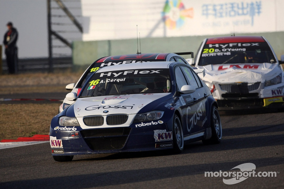 Alberto Cerqui, BMW 320 TC, ROAL Motorsport and Tiago Monteiro, Honda Civic Super 2000 TC, Honda Racing Team Jas