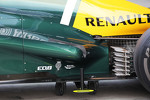 Caterham CT01 rear suspension and exhaust dertail