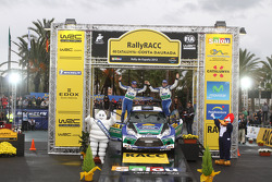 Podium: Jari-Matti Latvala and Miikka Anttila, Ford Fiesta RS WRC, Ford World Rally Team
