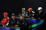 The FIA Press Conference, Sauber; Lewis Hamilton, McLaren; Pedro De La Rosa, HRT Formula 1 Team; Fernando Alonso, Ferrari; Sebastian Vettel, Red Bull Racing; Kimi Raikkonen, Lotus F1 Team