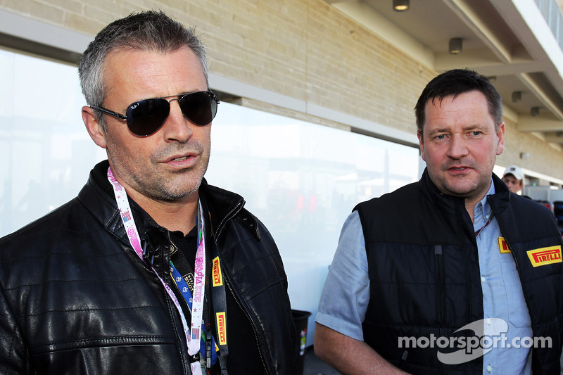 Matt LeBlanc, Actor with Paul Hembery, Pirelli Motorsport Director