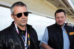 Matt LeBlanc, Actor with Paul Hembery, Pirelli Motorsport Director