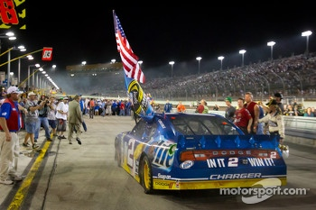 2012 NASCAR Sprint Cup Series champion Brad Keselowski, Penske Racing Dodge celebrates