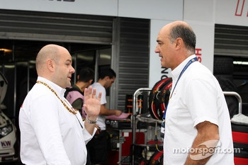 Andrea Adamo, Chief Designer, Honda Racing Team Jas  and Jaime Puig, SEAT Sport director