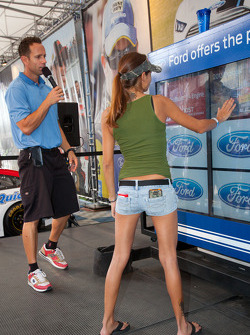 Fans entertainment at the Ford display