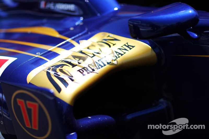 Scuderia Toro Rosso STR7 sidepod detail