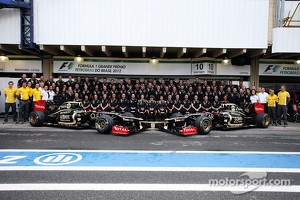 2012 Lotus F1 Team team photograph