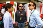 Emerson Fittipaldi, with his grandson Pietro Fittipaldi, and Rubens Barrichello
