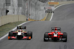 Narain Karthikeyan, HRT Formula One Team and Timo Glock, Marussia F1 Team