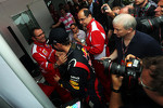 Sebastian Vettel, Red Bull Racing celebrates his World Championship with Stefano Domenicali, Ferrari General Director