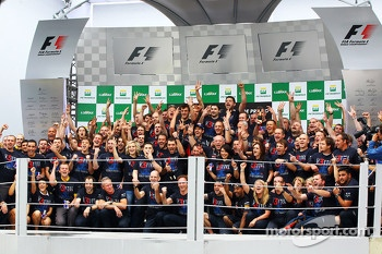 Sebastian Vettel, Red Bull Racing celebrates his World Championship with the team