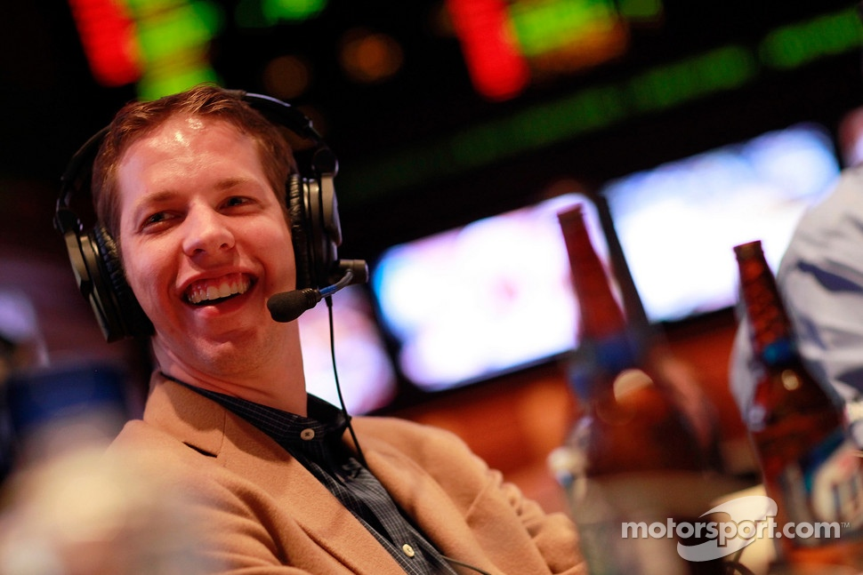 Brad Keselowski participates in a radio show