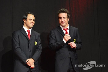 Felipe Massa and Fernando Alonso at the Ferrari Gala