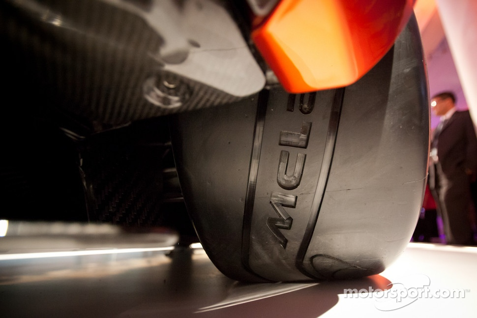 Pirelli tires with McLaren logo