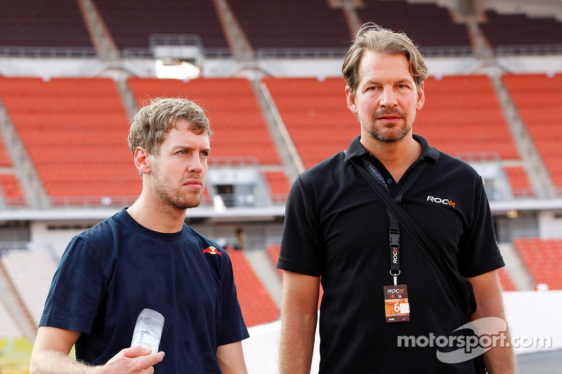 ROC founder Fredrik Johnsson and Sebastian Vettel
