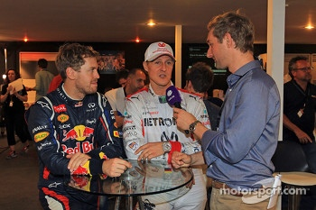 Sebastian Vettel and Michael Schumacher